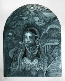 etching 297mm x 210 mm femmeshamanic