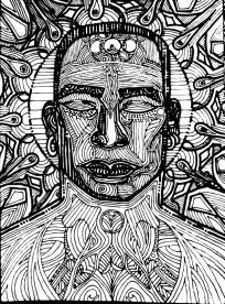 innersanctum drawing on paper 210 x 297mm