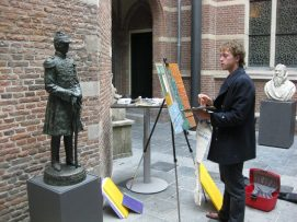 Tun painting in Leiden